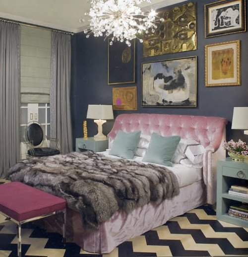 Eclectic Interior Design Bedroom Bedroom Ideas For Christmas Bedroom Ideas Artsy Bedroom Door Paint Color Ideas: Delorme Designs: NAVY AND PINK
