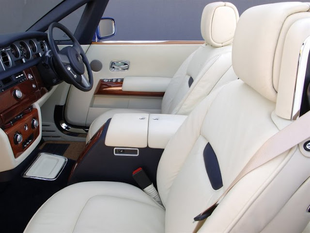 Rolls Royce no Brasil - interior branco