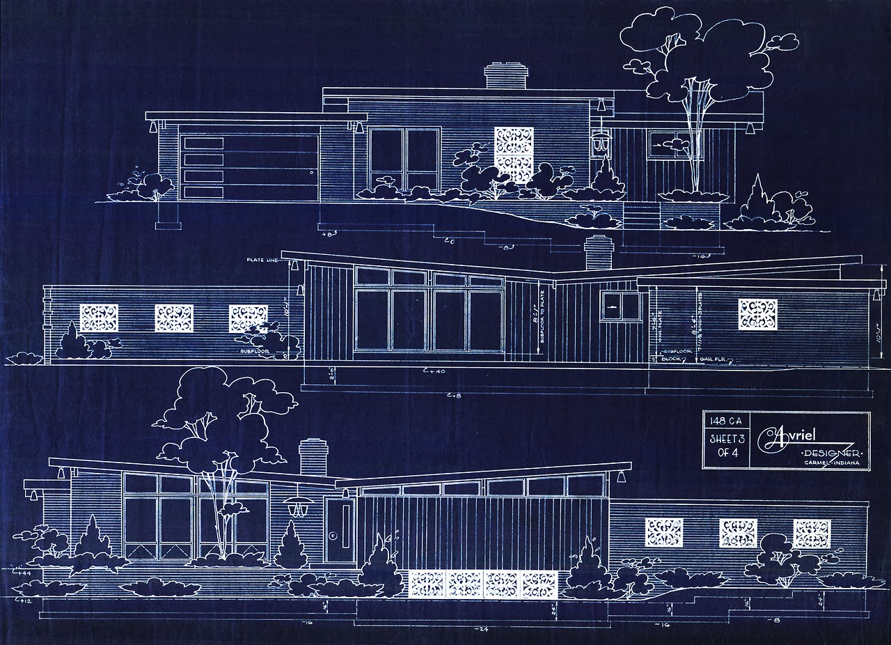 Mad for mid century lessons from mid century design for Mid century modern blueprints