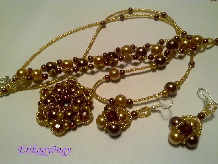 Arany-bronz szett