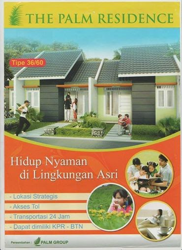 The Palm Residence Rumah Murah Bekasi Bonus Pagar+ Pompa Air+ Kitchen Set