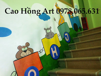 vẽ tranh tường,vẽ tranh tường tường mầm non,vẽ tranh tường mẫu giáo