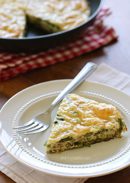 Asparagus and Swiss Cheese Frittata | Skinnytaste