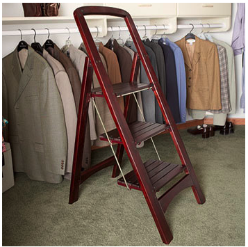 wood folding stepladder