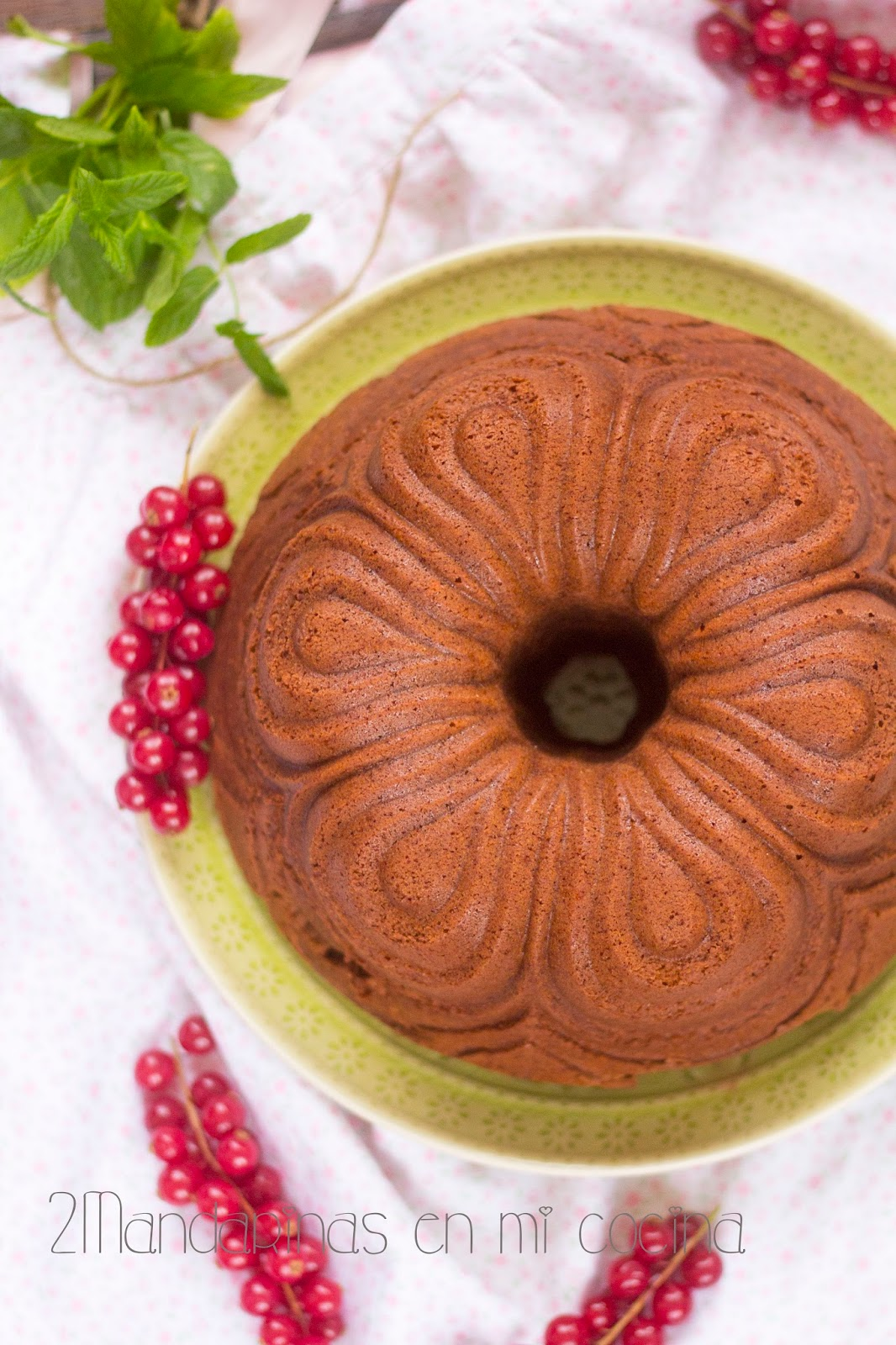 Bundt cake de chocolate y coñac