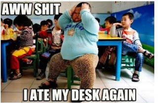 aww shit i ate my desk again. lu hao funny pictures