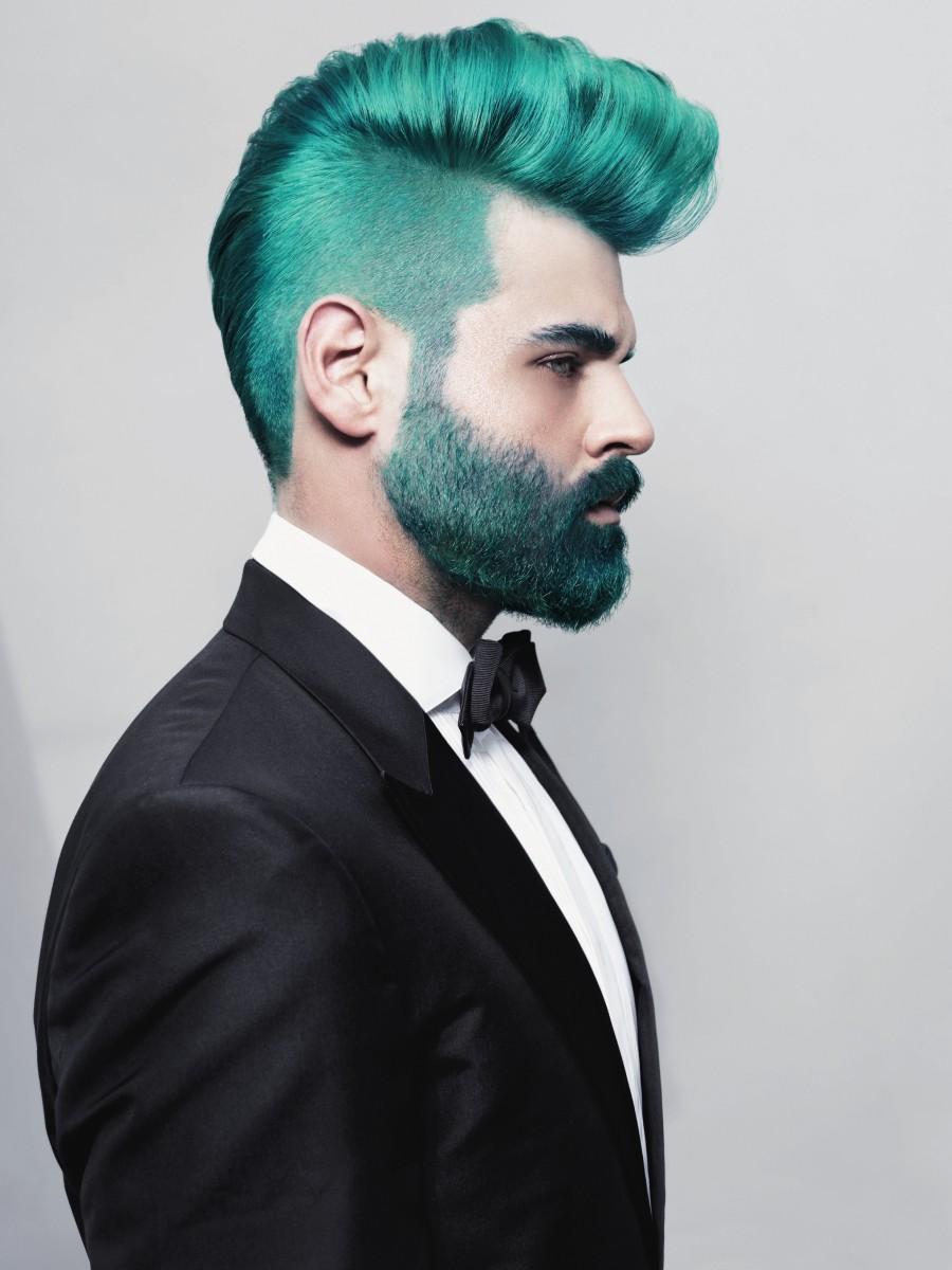 Черный цвет волос у парней