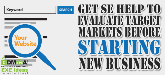 Get SE Help To Evaluate Target Markets Before Starting New Business