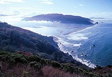 Estuary of the Klamath River in Northern California