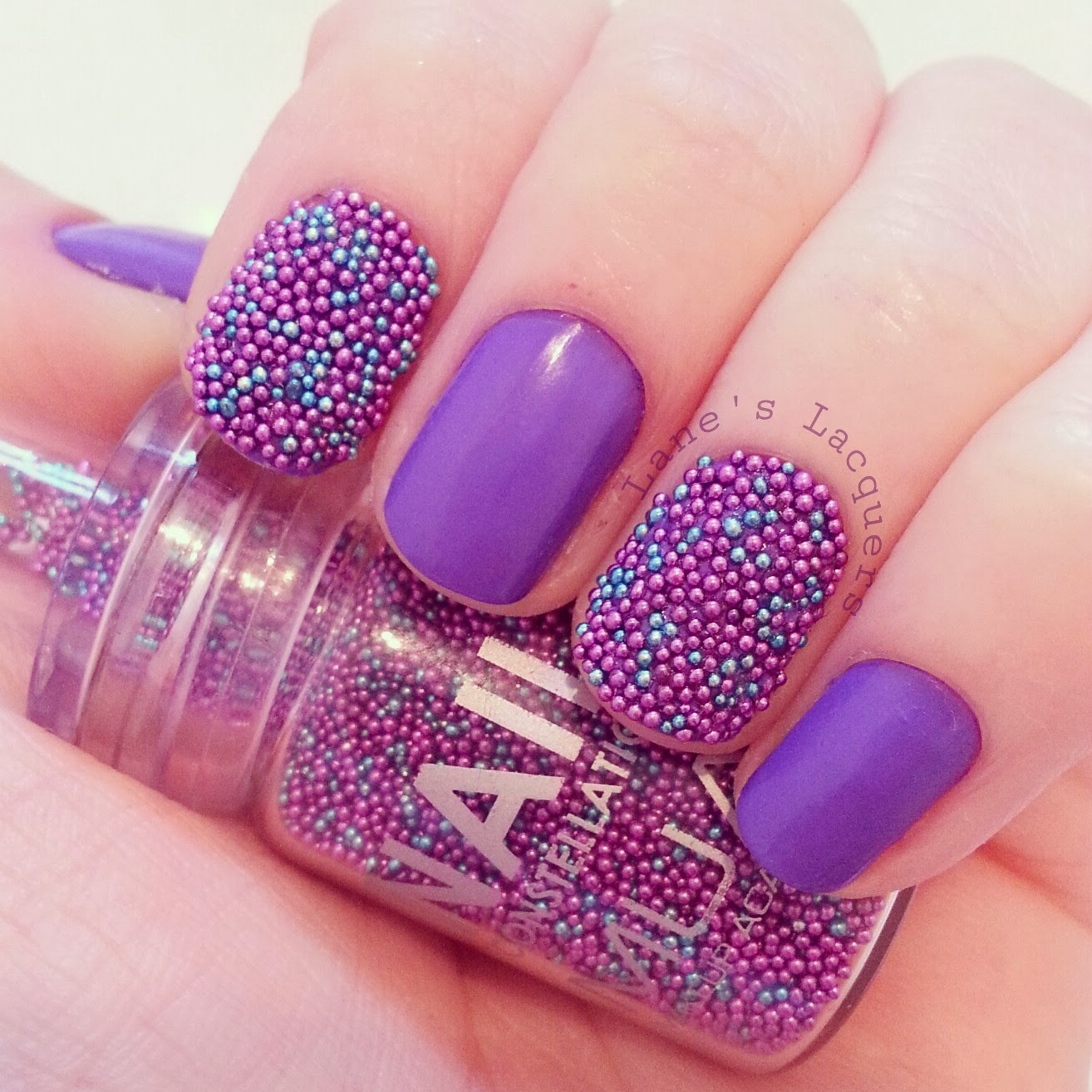 GOT-polish-challenge-purple-caviar-beads-nails