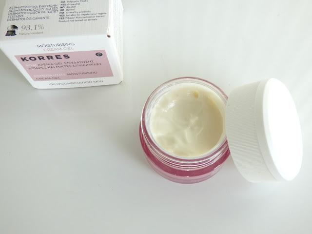 gel crème réquilibrant à la grenade de korres