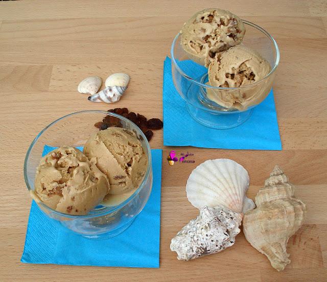 helado de ron con pasas, helados, pasas, ron, ron con pasas,