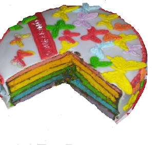 tarta fondant arco iris