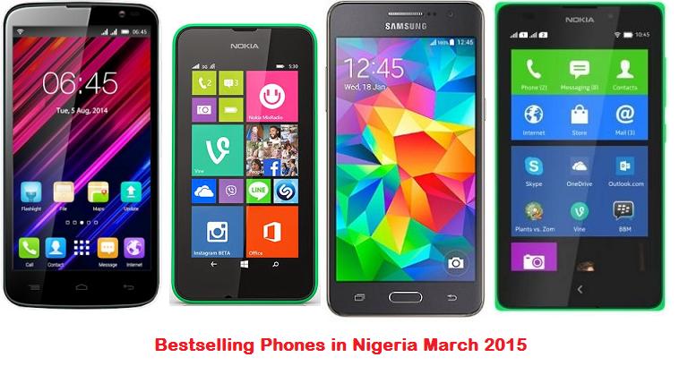 Bestselling Phones in Nigeria march 2015