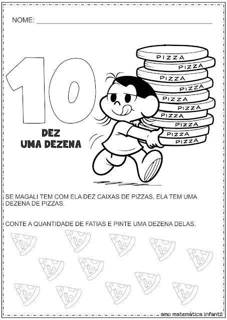 Dezena e Unidade Número 10 Atividades Turma da Mônica