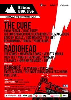Garbage, Bloc Party o Mumford & Sons al Bilbao BBK Live Festival