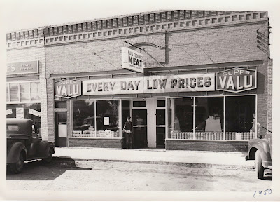 Maus Foods Super Valu building at 112 West Broadway, Monticello, Minneosta