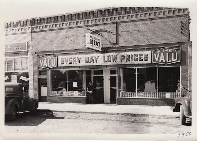 Maus Foods Super Valu building at 112 West Broadway, Monticello, Minneosta