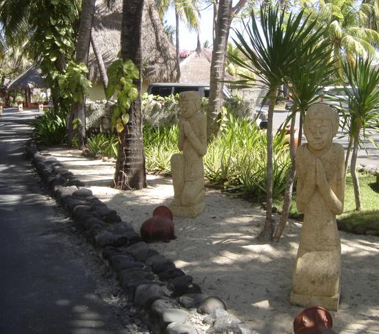 Estatuas en el hotel