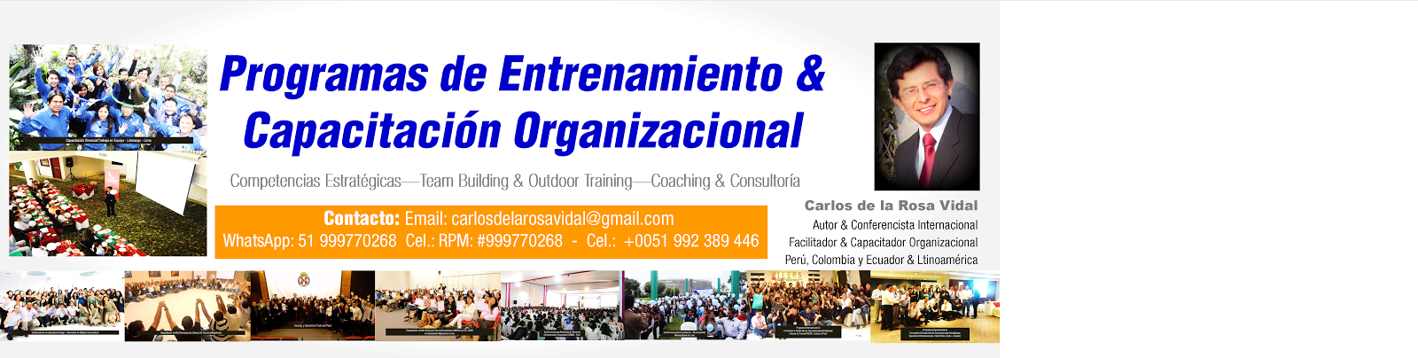Autor y Conferencista Internacional | Carlos de la Rosa Vidal