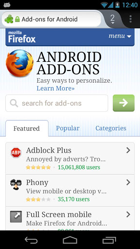 Android Apps Apk: Download Firefox Browser 20 0 1 Apk For Android