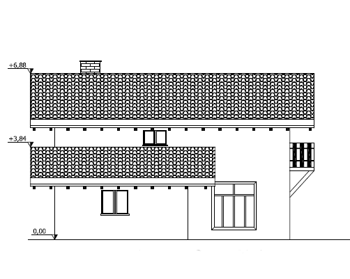 Progetti di case in legno casa 131 mq portico 5 mq for Progetti di portico anteriore