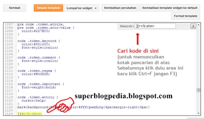 cara edit html template blog baru