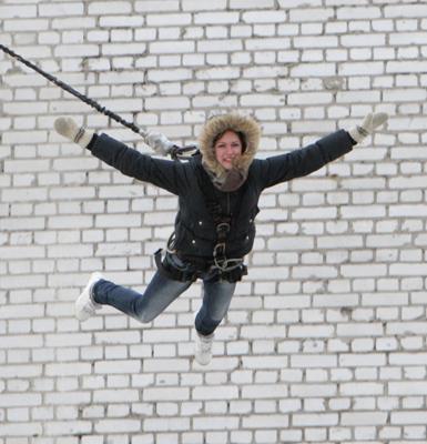 Фото Укринформ: прыжок с крыши