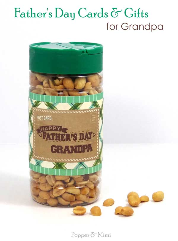 Upcycled Peanut Gift for Grandpa | popperandmimi.com