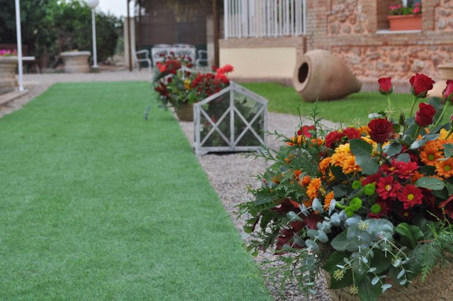 decoración floral Camino entrada Boda Valencia