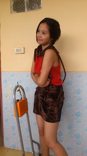 Srey Rath Kim Cute Wife On Facebook Sexy Red Dress Photo 6