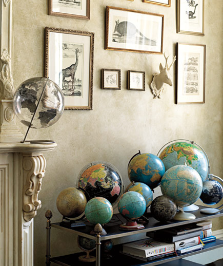 Bon Shows You How To Put A Nice Spin On Your Decoratingu2026vintage Globes Seem To  Be Perfect!
