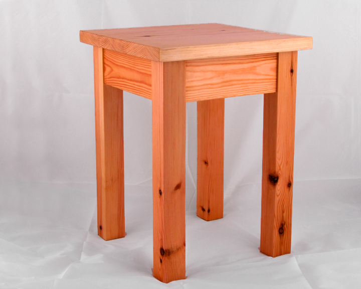 Ella Sprung Furniture Small Pine Side Table Stool