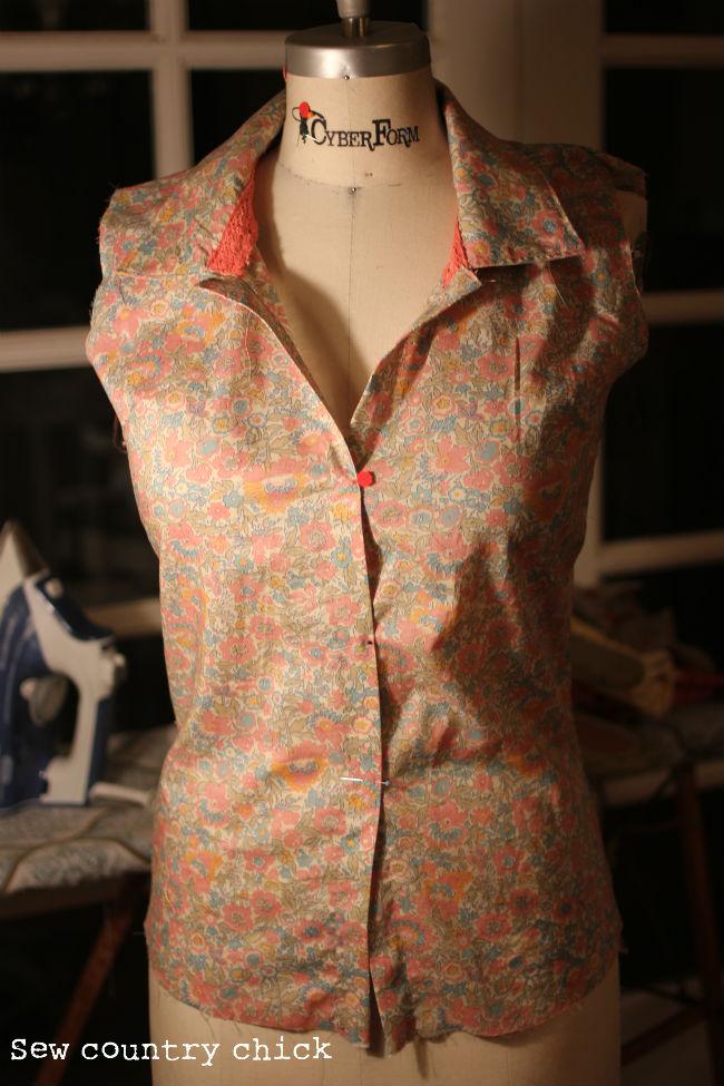 Adding A Dart To The Button Down Shirt Pattern