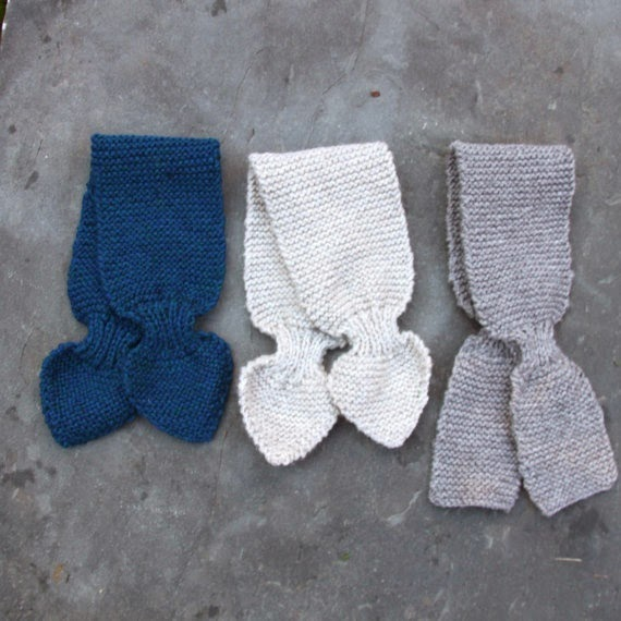 Tiptoethrough: Boys Baby and Toddler Scarf Knitting Pattern