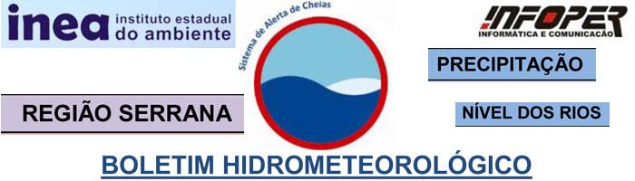 INEA-Boletim Hidrometeorológico Região Serrana - Teresópolis, Petrópolis, Nova Friburgo e Bom Jardim-31 jan 2013.