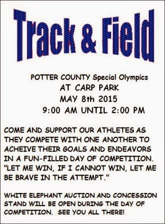 5-8 Potter County Special Olympics
