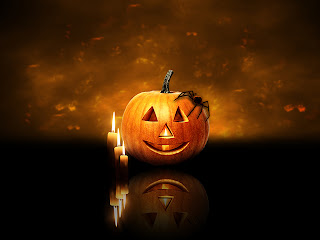 beautiful halloween pumpkin wallpaper with candle effort