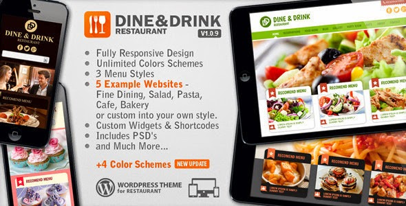 Dine & Drink v1.0.8 - Restaurant WordPress Theme