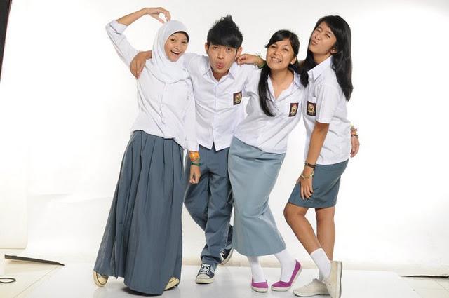 University Students Wear High School Uniform