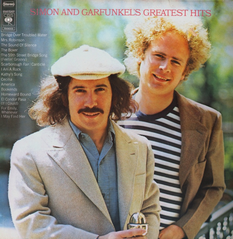 Capa do CD Simon And Garfunkel – 20 Greatest Hits