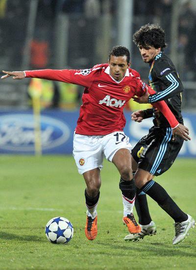 Champions League, Nani Man Utd, Lucho Gonzalez marseille