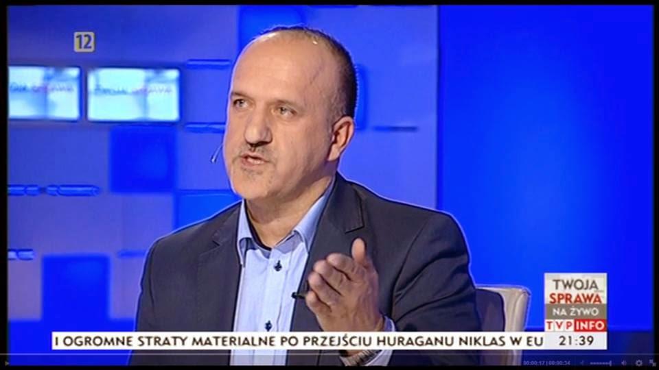 """Marek Szambelan Prezes Fundacji """"Razem Lepiej"""" w programie """"Twoja Sprawa""""  foto: TVP info (print screen)"""