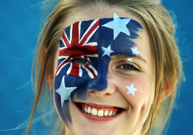 Australian Flag Facepaint