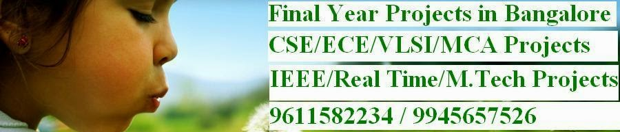 FINAL YEAR IEEE PROJECTS FOR M Tech,BE(CSE/ECE),MCA,BCA, STUDENTS