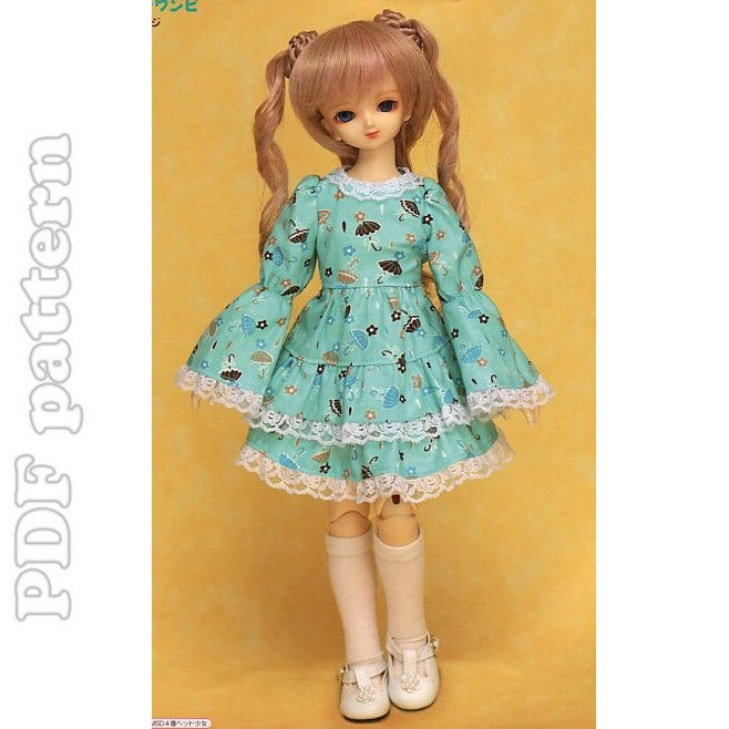 MSD Easy Long Sleeve Lolita Dress Sewing Pattern PDF with tutorial ...