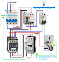 contactor guardamotor corte termostato