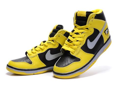 nike SpongeBob dunks Custom high yellow black
