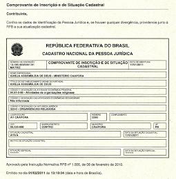 CNPJ DO MINISTÈRIO CAAPORÃ - PB