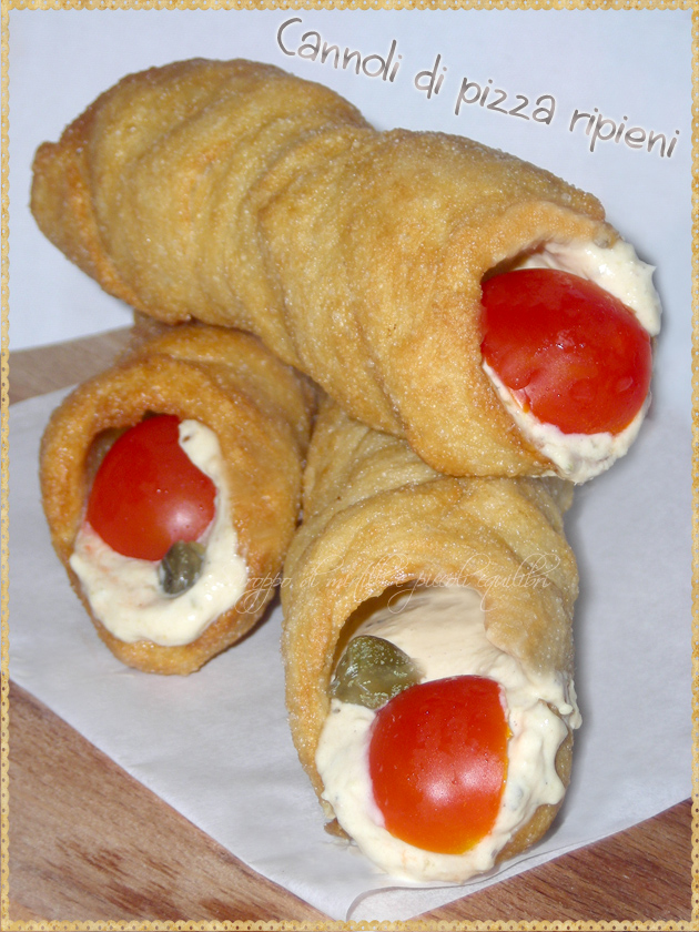 Cannoli di pizza ripieni